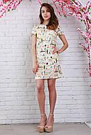 Молодежное летнее платье из креп-шифона на каждый день