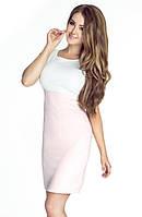 Летнее женское платье пудрово-розового цвета без рукава. Модель 6061, коллекция весна-лето 2016.