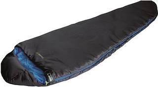 Надежный спальный мешок High Peak Lite Pak 1200 / +5°C (Left) Black/blue 922674 черный