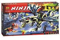 Конструктор для мальчиков от 5 лет Ninja 10400 «Атака Дракона Морро», 659 деталей, открывающаяся пасть