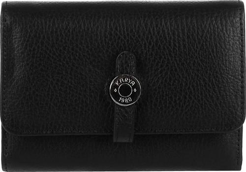 Кожаный женский кошелек-кредитница 1143-45, черный