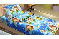 Постельное белье для подростков Top Dreams Kidsdreams Амуры голубое 150