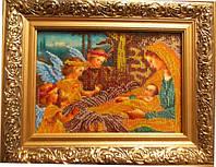 """Картина вышитая бисером """"Рождество Христово"""""""
