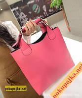 Женская  Супер модная сумка Zara + Косметичка! Цвет Розовый