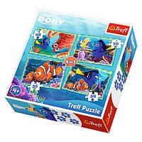 """Пазлы """" Disney. Pixar. Подводные забавы"""" 34259 Trefl, 4 в 1"""