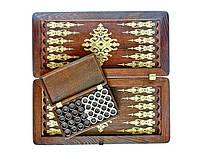Нарды Княжеские 01 деревянные, оригинальный декор и фишки в шкатулке