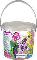 Мелки цветные Jumbo, 15 шт, в ведре My Little Pony,LP16-074