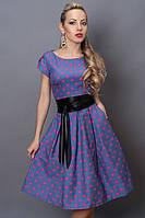 Красивое летнее платье в горох