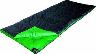 Удобный спальный мешок High Peak Patrol / +7°C (Right) Black/green 922762 черный