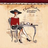 """Схема для вышивания бисером на подрамнике (люди) """"Choco Praline"""""""