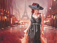 """Схема для вышивания бисером на подрамнике (люди) """"Туман над Парижем"""""""