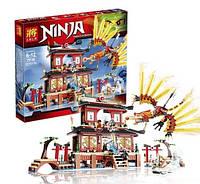 Конструктор для мальчика 6 лет Ninja 79140 Огненный Храм, 1210 деталей, 7 минифигурок