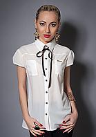 Нарядная красивая модная стильная шифоновая блуза женская 40-42,42-44,44-46,46-48,48-50