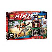 Блочный конструктор Ninja Bela 10461 Остров Тигриных вдов, 449 блок-деталей, возраст 6+