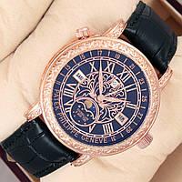 Мужские кварцевые наручные часы Patek Philippe Grand Complications Sky Moon Tourbillon на кожаном ремешке
