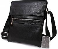 Современная мужская кожаная сумка для аксессуаров Alvi av-96black черная
