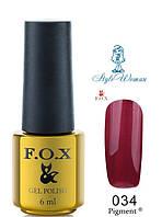 Fox Gel Polish Фокс гель лак 6 мл №034