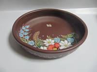 Миска глиняная маленькая Поляна (С росписью Поляна)