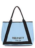Сумка женская коттоновая PoolParty (коттон laguna-blue)