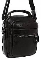 Роскошная мужская кожаная сумка с ручкой и наплечным ремнем, черная Alvi av-40-5150