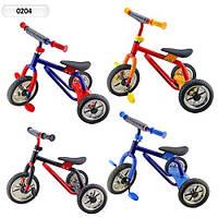 Трехколесный велосипед Super Trike 0204: резиновые ручки, каркас металл, 4 цвета, 2+ лет