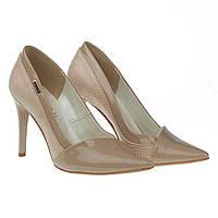 Туфли женские Lavini (бежевого цвета, классический дизайн, острый носок, стильные, модные, элегантные)