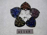 Муранское стекло (цвет: синий, желтый , оранжевый,  розовый, голубой).