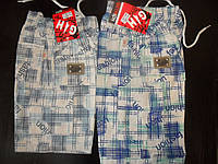 Шорты-бермуды для мальчика в клетку, размеры 98,104,110,116,122,128 / большемерят на размер!