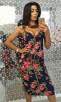 Женское платье Футляр с цветочным принтом