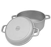 Кастрюля Биол алюминиевая с крышкой сковородкой 7 л