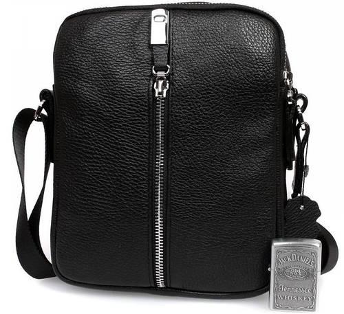 Оригинальная мужская сумка премиум класса, кожаная Alvi av-4-5651 черный