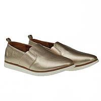 Туфли женские Kento (золотистого цвета, оригинальные, практичные, модные, стильные)