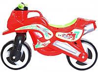 Каталка Мотоцикл, цвет красный + каска