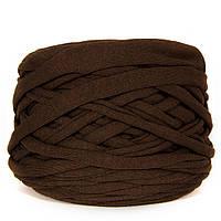 Трикотажная пряжа Темный коричневый шоколад