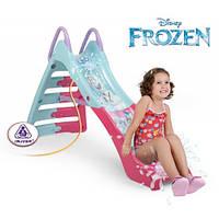 Детская Горка с водным эффектом Frozen 180см