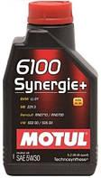 Моторное масло полусинтетика 5W30 MOTUL 6100 SYNERGIE+ SAE 5W30 (1L)