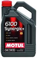 Моторное масло полусинтетика 5W30 MOTUL 6100 SYNERGIE+ SAE 5W30 (4L)