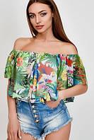 Летняя яркая шифоновая блузка топ  Модно