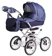Прогулочная коляска Adamex Katrina Pik4 Белая рама Синий цвет