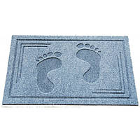 Придверный коврик СТОПЫ gray - 45х75