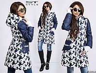 Пальто женское  из плащёвки с капюшоном