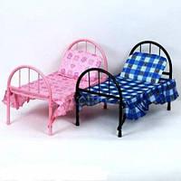 Кровать детская для кукол железная Melogo 9342