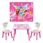 Столик детский со стульчиками деревянный Winx Bambi D 11551