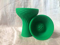 Силиконовая большая чаша для кальяна - Зелёная