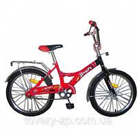 Велосипед 20 дюймов для детей двухколесный красно-черный Profi P 2036