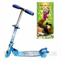 Самокат для детей трехколесный металлический мульт Profi BB 3-007
