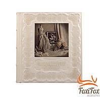 Свадебный кожаный фотоальбом ручной работы