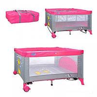Манеж-кровать детский двухуровневый на колесиках Bambi M 0525