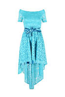 Женское платье асиметрия пояс атлас, фото 1