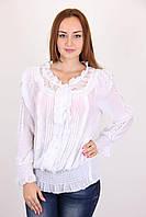 Стильная белая женская блуза. Размер: 44,46,48,50.